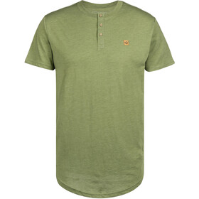 tentree Long T-shirt à col tunisien Homme, mosstone green